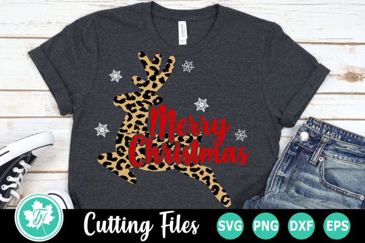 Leopard Print Reindeer - A Christmas SVG Cut File