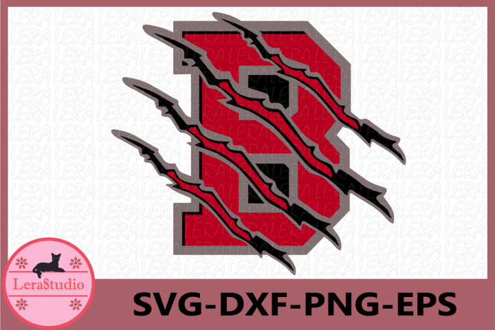 B Svg, Bears Svg, Bear Paw Svg, Football Svg, Sport file Svg