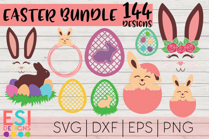 Easter Mega Bundle| Easter Bunny | SVG DXF EPS PNG