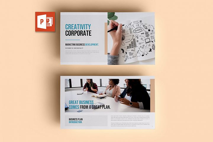 PPT Template | Business Plan - Creativity Corporate