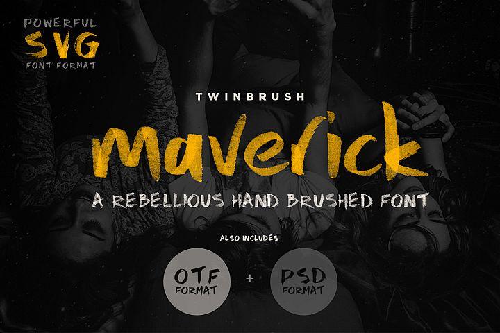 Maverick Brush and SVG Font