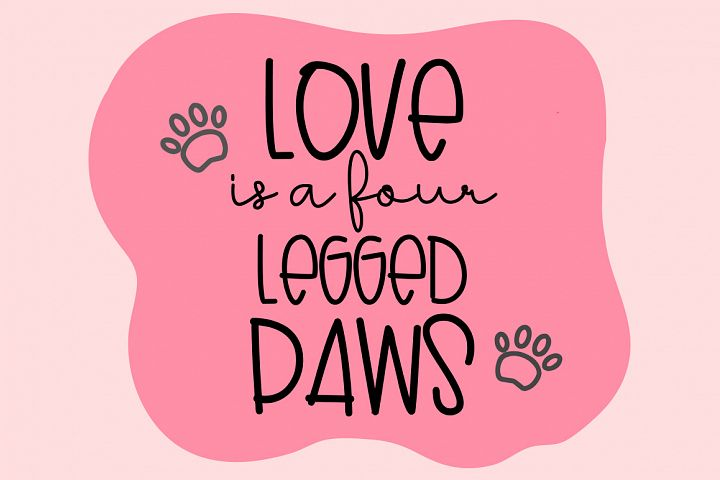Lovely Puppy - Font duo with bonus - Free Font of The Week Design0