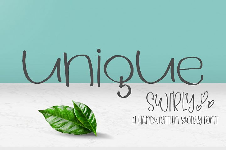 Unique Swirly Handwritten Font