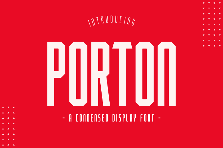 Porton Condensed Display