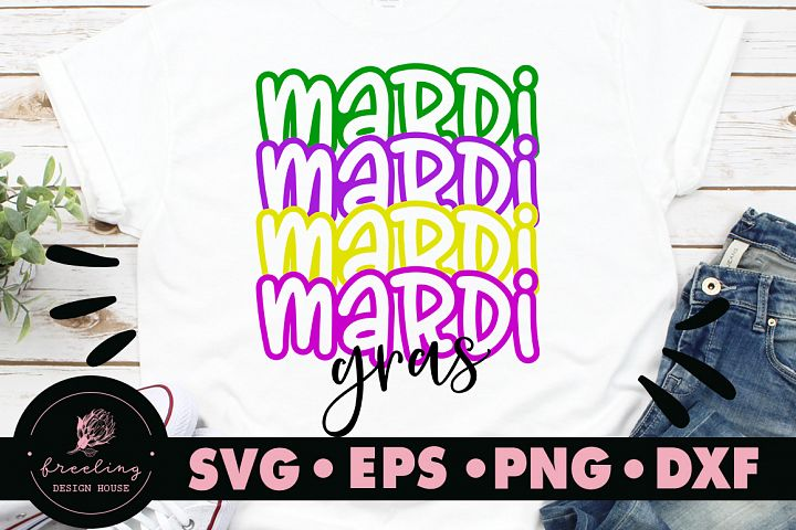 Mardi Gras Mirror Font SVG DXF EPS PNG