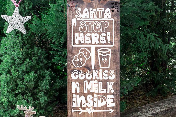 Santa Stop Here Cut File