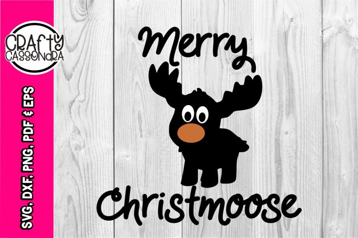 Christmas SVG - Moose SVG - Merry Christmoose - funny