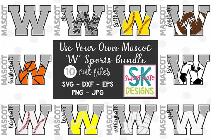 Your Own Mascot W SVG Bundle - 10 - SVG DXF EPS PNG JPG