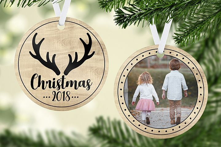 Wood and Antler Christmas Ornament Template