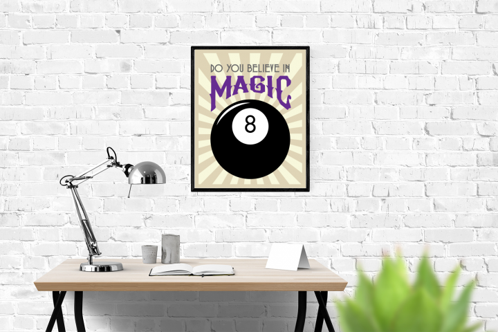 Magic 8 Ball Do You Believe in MagicSVG Design