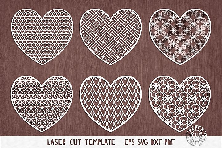 SVG Valentines Day Hearts cut file for Cricut, Silhouette.