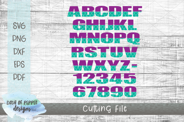 Mermaid Font SVG- A Mermaid SVG for Cricut and Silhouette