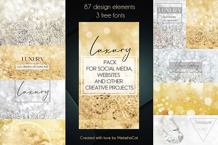 Luxury pack for social media, websites and blogs
