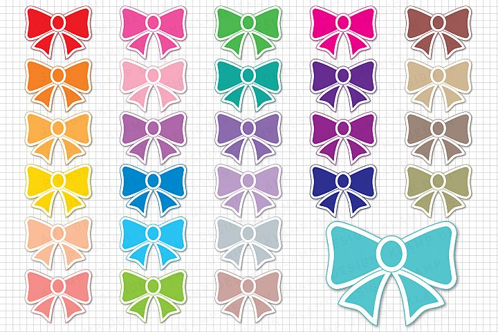 Bow Graphic and Illustrations, Bow Clipart, Scrapbooking