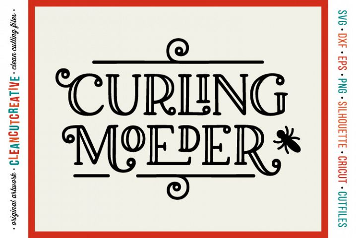 Curling Moeder met commerciele licensie - funny dutch meme