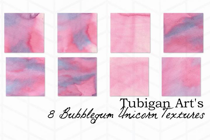 8 Yummy Bubblegum Digital Paper / Textures