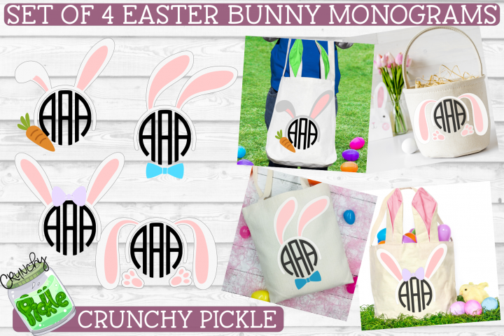 Easter Monograms Mini SVG Cut File Bundle