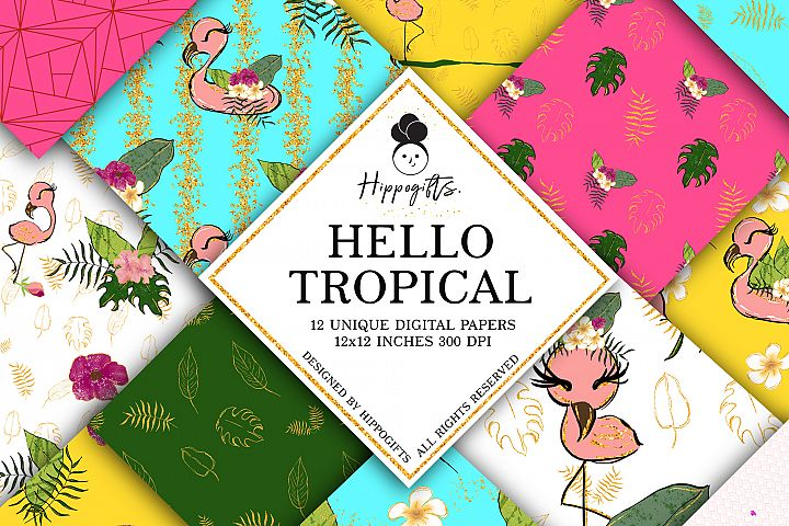 Tropical Digital Paper, Tropical Patterns