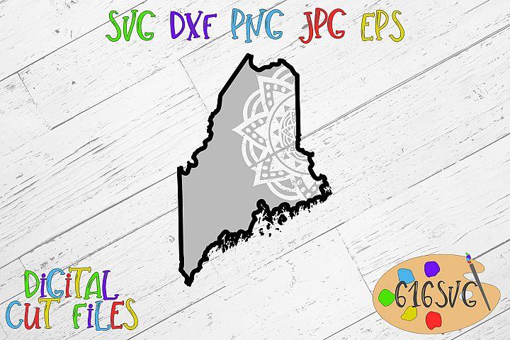 Maine Mandala SVG