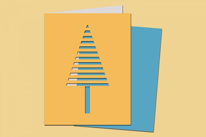 SVG Christmas Stripes Card