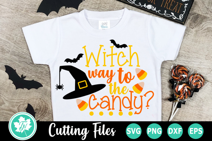 Witch way to the Candy - A Halloween SVG Cut File