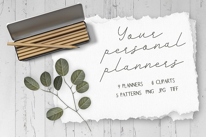 Your personal planners. Eternal calendar for the month and w