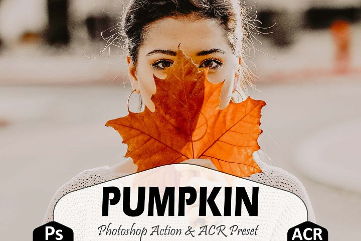 Pumpkin Photoshop Actions And ACR Presets, Fall preset