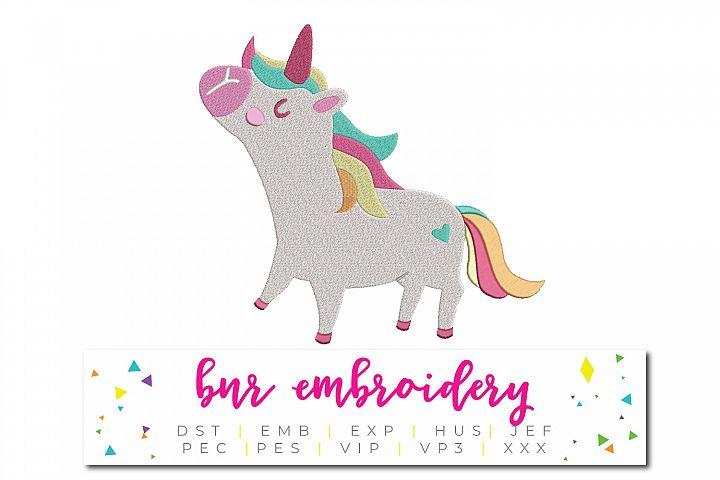 Unicorn Machine Embroidery Design