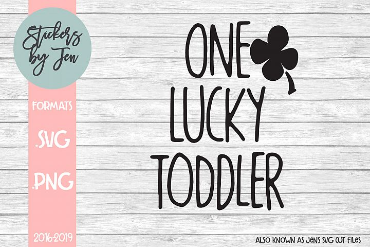 One Lucky Toddler SVG Cut File