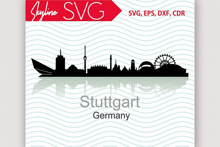 Stuttgart Skyline, Germany City Country in Europe Vector SVG