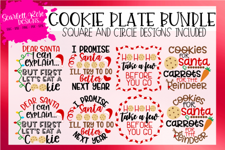 Christmas Cookie Plate Bundle