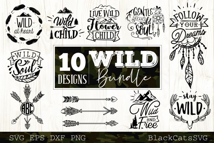 Wild SVG bundle 10 designs Boho SVG bundle vol 1