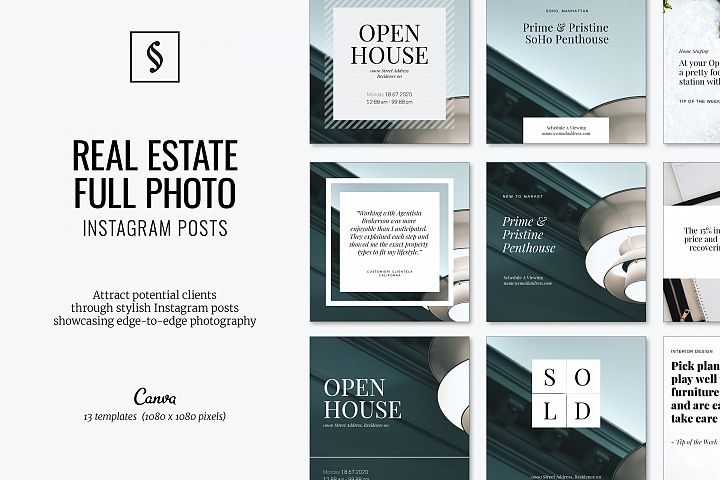 Canva Instagram Posts for Real Estate - Full Photo