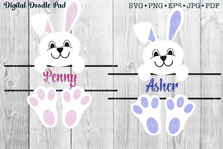 Bunny Monogram by Digital Doodle Pad