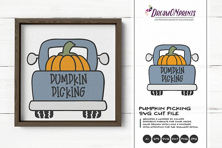 Pumpkin Picking | Fall SVG | Truck with Pumpkins