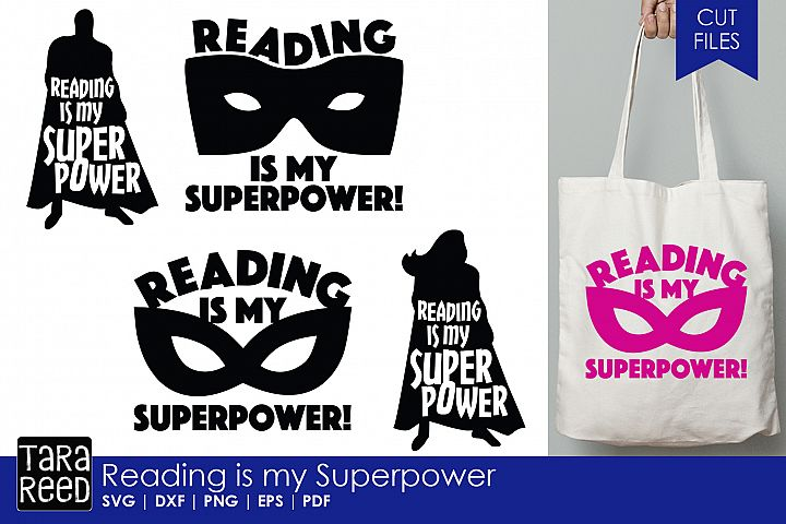 Reading is my Superpower - School SVG and Cut Files