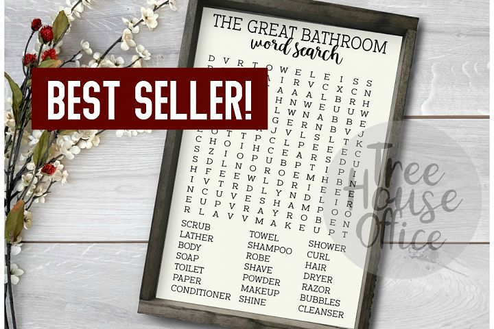 Forget Your Phone Funny Bathroom Word Search SVG PNG JPEG