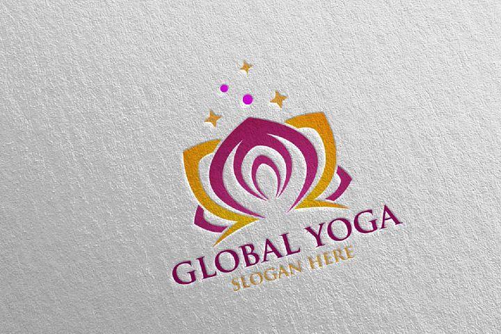 Yoga and Spa Lotus Flower logo 35