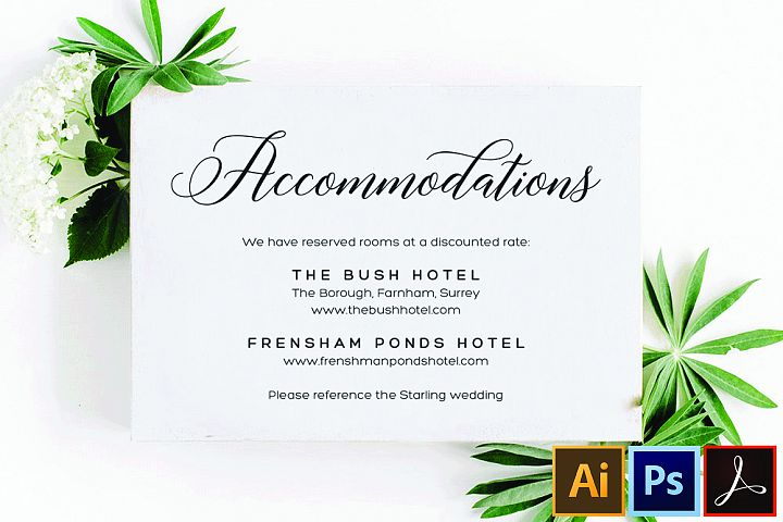 Accommodations Card Template Printable Accommodation Card