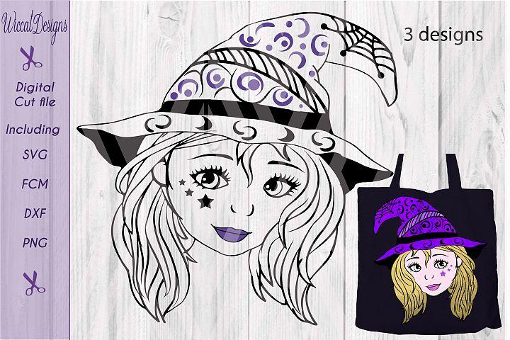 Halloween svg, Witch svg, doodle svg, svg file