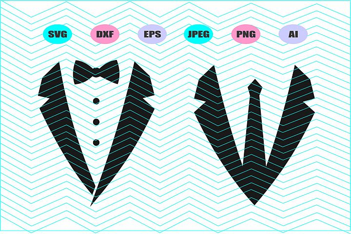 Tuxedo Svg Vector File Silhouette Cricut Design Vinyl Decal