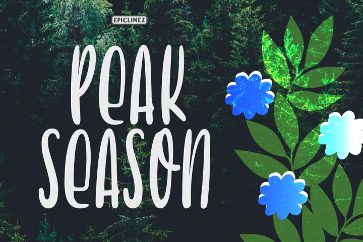 Peak Season - Display Font
