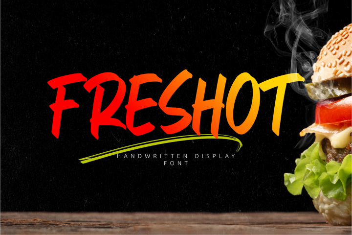 FresHot - Handwritten Display Font