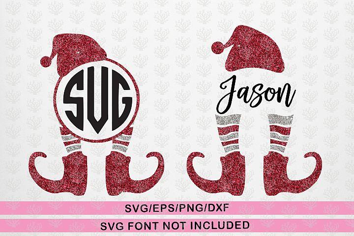 Elf Santa Monogram Bundle - Christmas SVG EPS DXF PNG