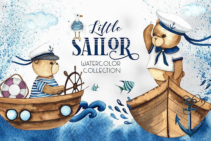 Little Sailor. Watercolor collection
