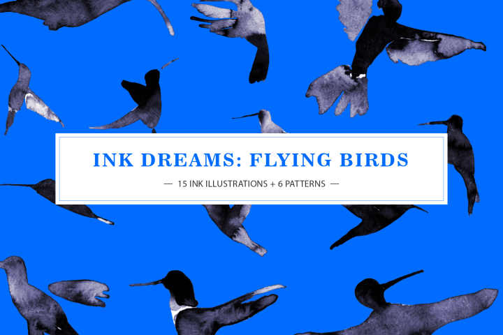 INK DREAMS FLYING BIRDS