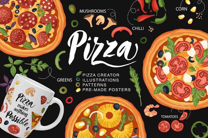 Pizza set. Creator Ready Designs.