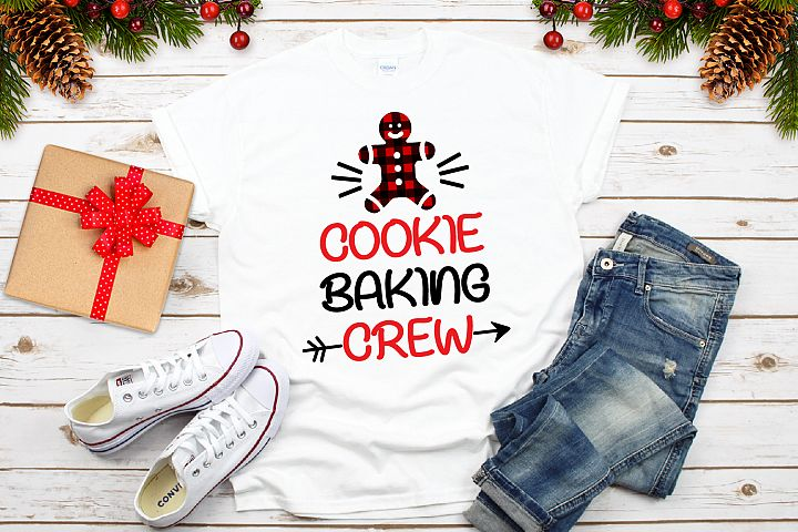 Cookie Baking Crew Svg, Christmas Buffalo Plaid Svg