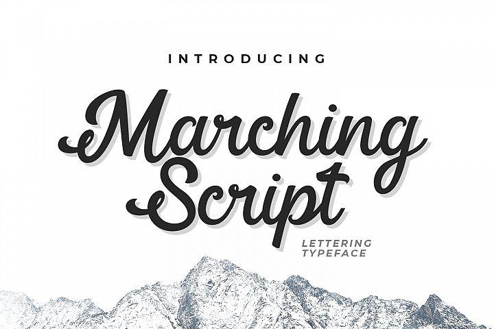 Marching Script