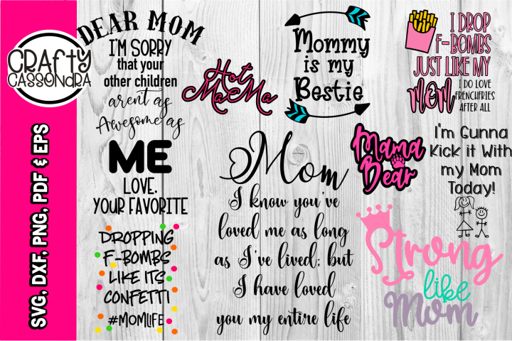 Mom svg - Mom quotes - Mom bundle - Mothers day - Bestie mom